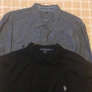 US Polo Assn Men's Casual Shirts Xl EUC